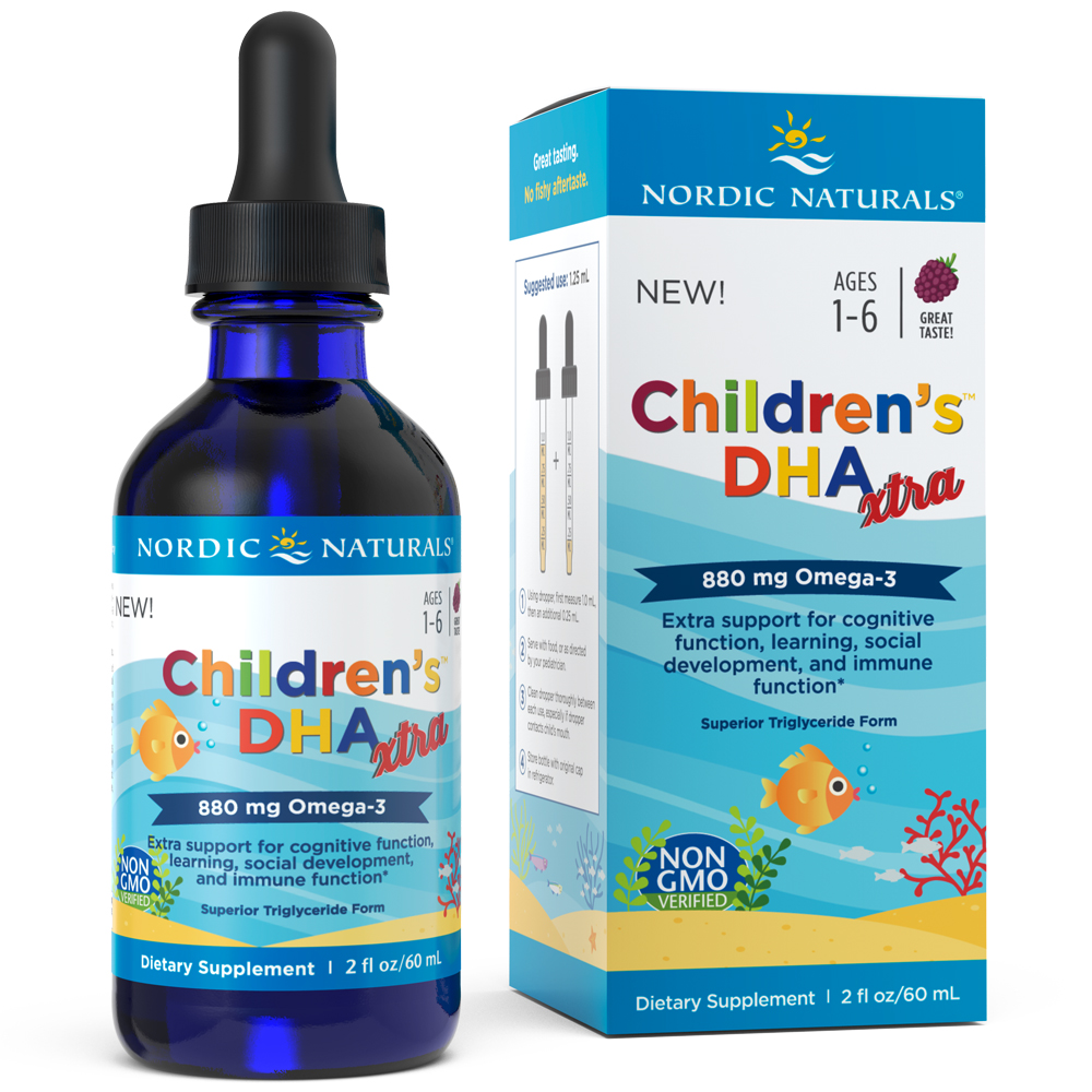 Nordic Naturals Children's DHA Xtra Liquid, Berry Punch, 880 Mg, 2 Fl Oz