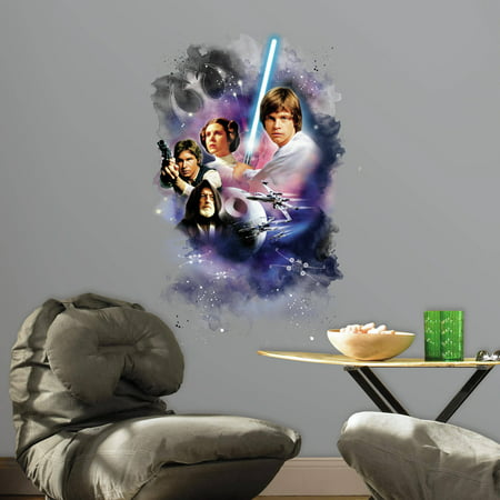 RoomMates Star Wars Classic Mega Peel and Stick Giant Wall Decals](Star Wars Decals)