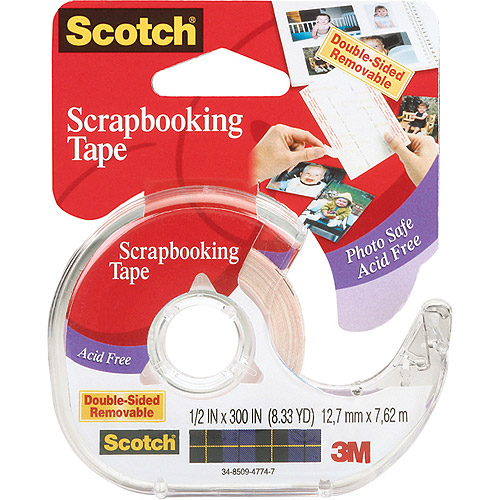 "Scotch Double-Sided Removable Scrapbooking Tape, 1/2"" x 300"""