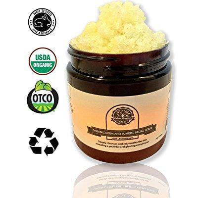 organic neem and tumeric facial scrub by oslove organics-usda
