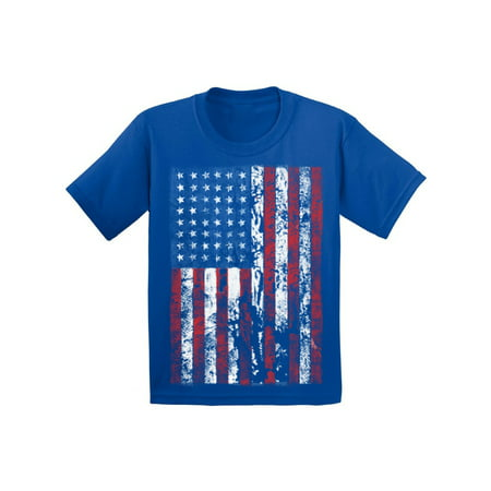 Awkward Styles Youth USA Flag Distressed Graphic Youth Kids T-shirt Tops 4th of July Independence Day