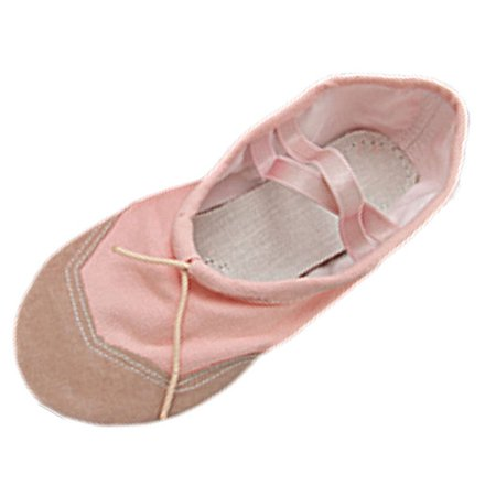 Unique Bargains Good Dancing Dance Soft Pink Ballet Ladies Shoes EU 39