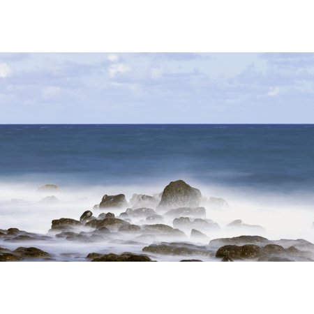 Long exposure surf along the Kealia Beach Kapaa Kauai Hawaii United States of America