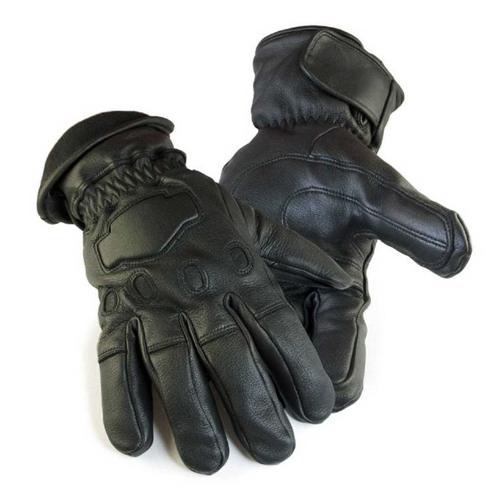 Northstar Mens Deerskin Gauntlet Cycle Glove Lined 150 gr...