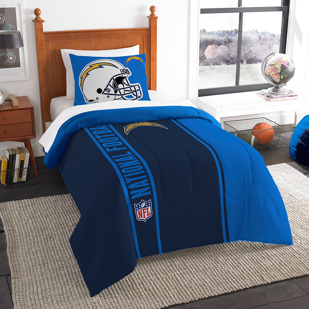 "San Diego Chargers NFL Twin Comforter Set (Soft & Cozy) (64"" x 86"")"