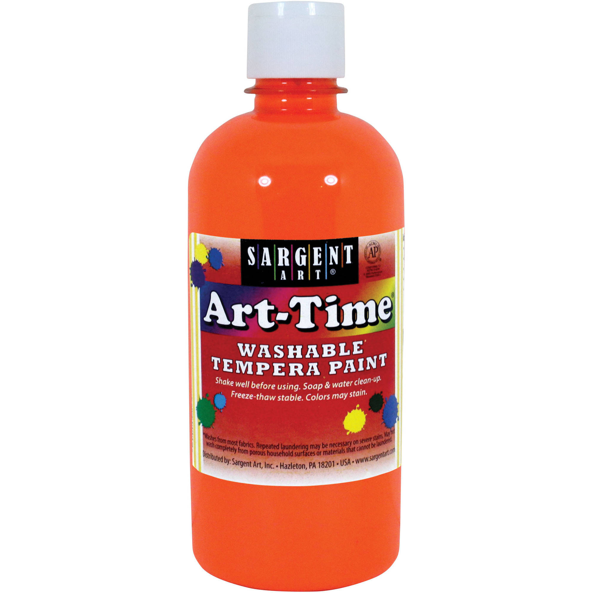 Sargent Art Tempera Paint, 16 oz, Neon Orange