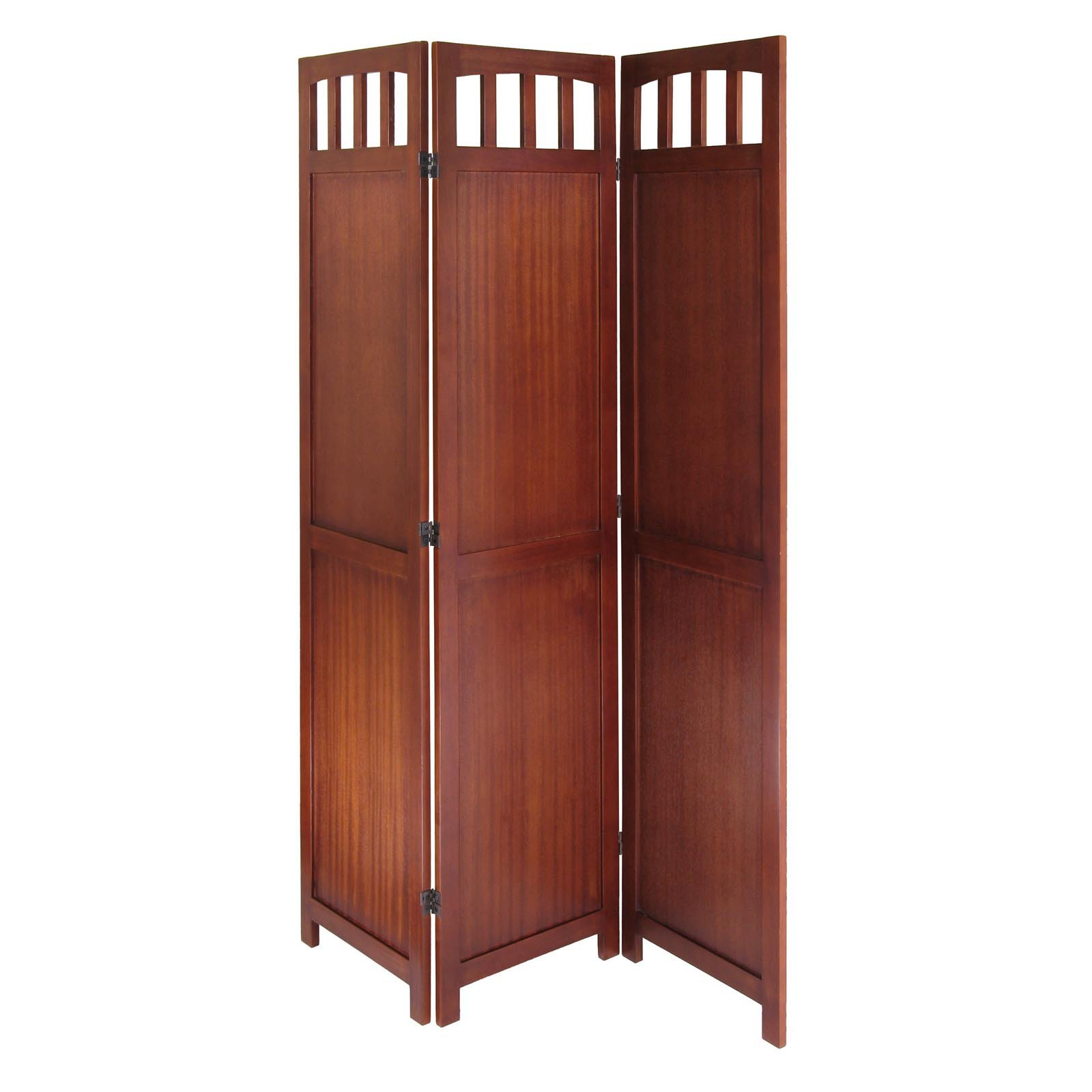 3 Panel Wood Folding Screen Walmartcom