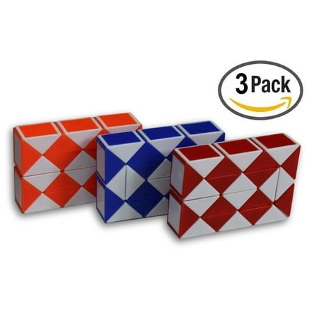 Speed Cube Magic Snake Ruler Twist Puzzle 24 Wedges Twist Toys 3 Pack!