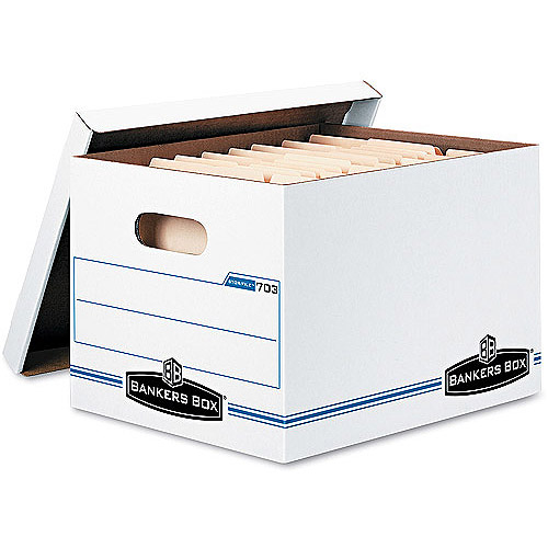 Bankers Box Letter/Legal Size Storage Box, 12/Carton