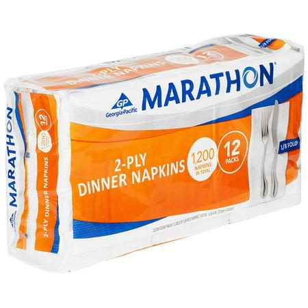 Marathon - Embossed Dinner Napkins, 1/8 Fold - 1,200 Napkins 1/8 Fold Dinner Napkins