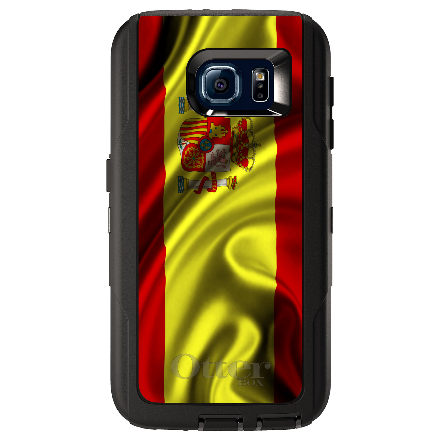 DistinctInk Custom Black OtterBox Defender Series Case for Samsung Galaxy S6...