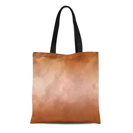 KDAGR Canvas Tote Bag Rose Mocha Marble Granite Marbling Marbled Look Chocolate Reusable Handbag Shoulder Grocery Shopping Bags