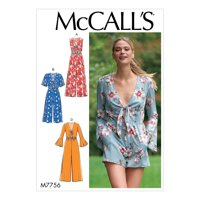 McCall's Sewing Pattern Misses' Jumpsuits and Romper-14-16-18-20-22