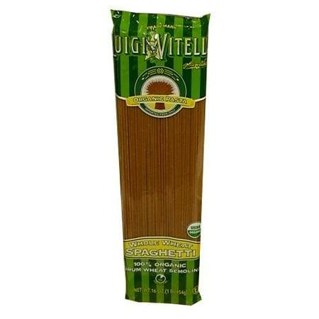Whole Wheat Organic Spaghetti (Luigi Vitelli) 16 oz (Organic Whole Wheat Spaghetti)