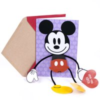 Hallmark Disney Valentine's Day Card for Kids (Removable Displayable Mickey Mouse)