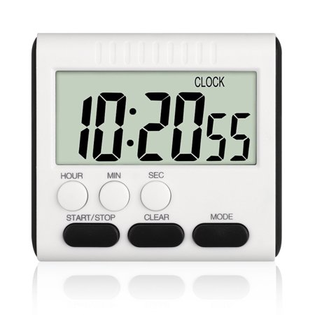 Digital Kitchen Timer, EEEKit LCD Large Cooking Timer with Loud Alarm Clock, Count-Down Up Clock for Cooking Baking Sports Games, Magnetic Back/Retractable Stand/Hole-easy to stand](New Years Countdown Timer)