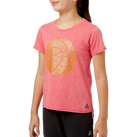 Reebok Girls' Heather Cotton Graphic T-Shirt