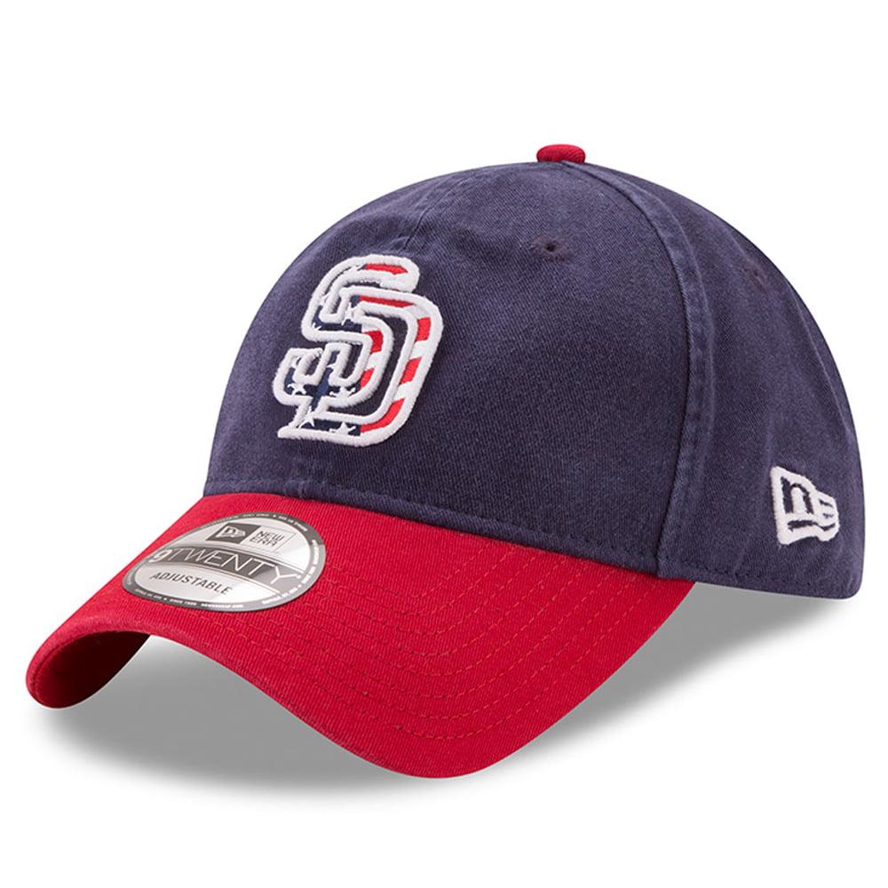 San Diego Padres New Era 2017 Stars & Stripes 9TWENTY Adjustable Hat - Navy/Red - OSFA