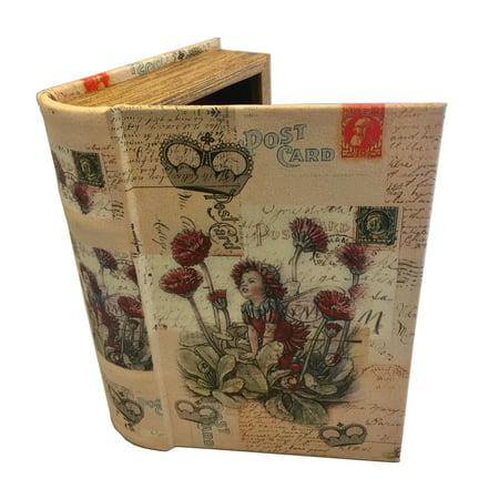 Fairy Book Box Decorative Book Box Leather & Wood Kids Secret Book Girl