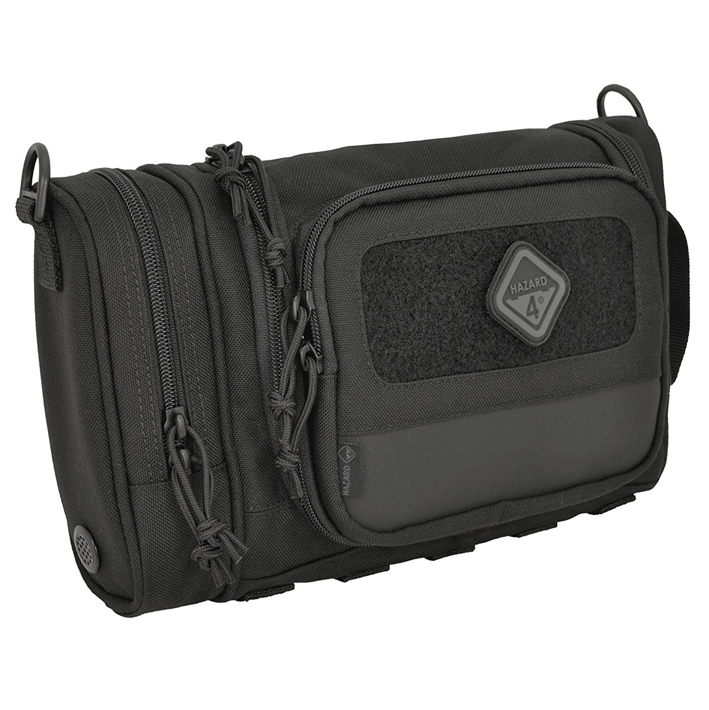 Hazard 4 RVL-CRD-BLK Reville Heavy Duty Grooming Camping Toiletry Kit, Black