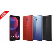 "New HTC U11 Eyes 64GB Dual SIM GSM Factory Unlocked 4G LTE 6"" Super LCD3 Capacitive Touchscreen 4GB RAM 12MP Smartphone - Black - International Version"