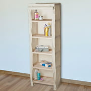 Tiered Wood Storage Shelving Rack With Removable Cover by Lavish Home
