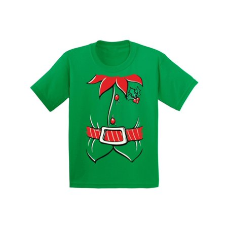Awkward Styles Elf Costume Kids Christmas Tshirt Youth Christmas Tee Elf Suit Christmas Shirts for Kids Santa's Helper Funny Kid's Christmas Holiday Shirt Girls Christmas Boy Christmas Shirt