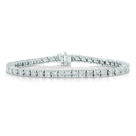 2 CT Diamond Bracelet Tennis 14K White Gold 7 Inches