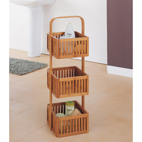 Neu Home Lohas Collection Stationary Caddy, Carbonized Bamboo