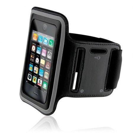 Armband Sports Gym Workout Cover Case Arm Strap Jogging Band Pouch Neoprene Black 45 for iPhone 5 5C 5S SE
