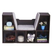SamyoHome Kids & Teen Bookshelves Storage Bookcase with 6-Cubby Organizer Cabinet Shelf Dark Brown