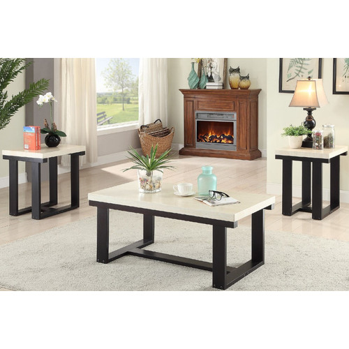 Au0026J Homes Studio El Dorado 3 Piece Coffee Table Set