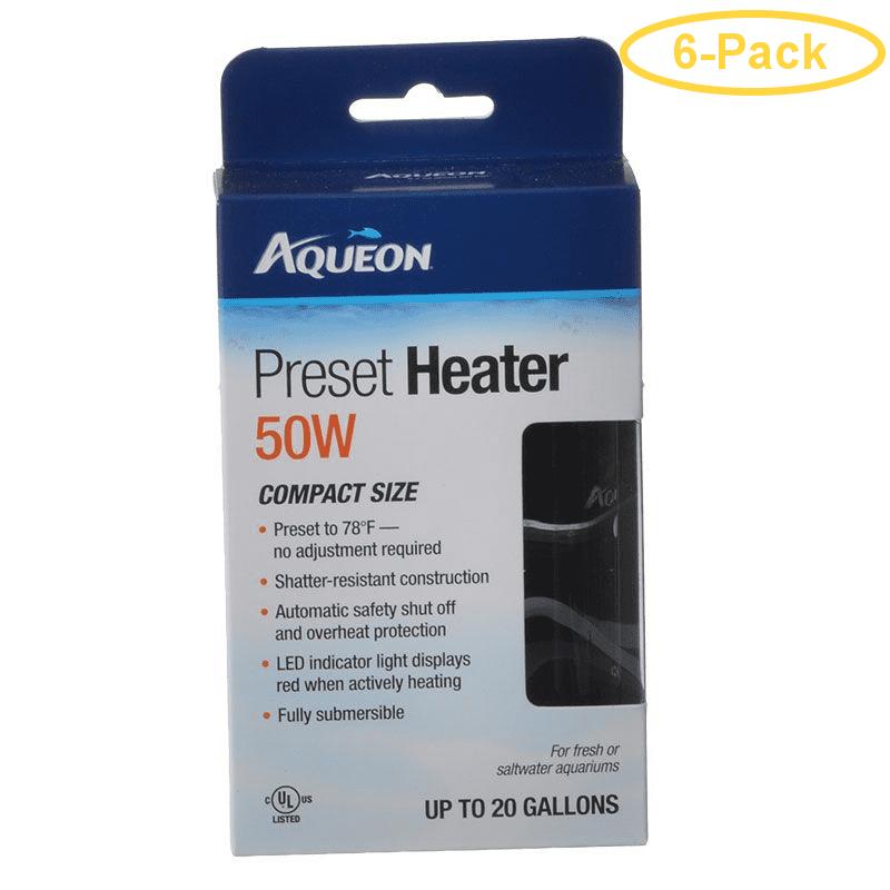 Aqueon Preset Aquarium Heater 50 Watt (Aquariums up to 20 ...