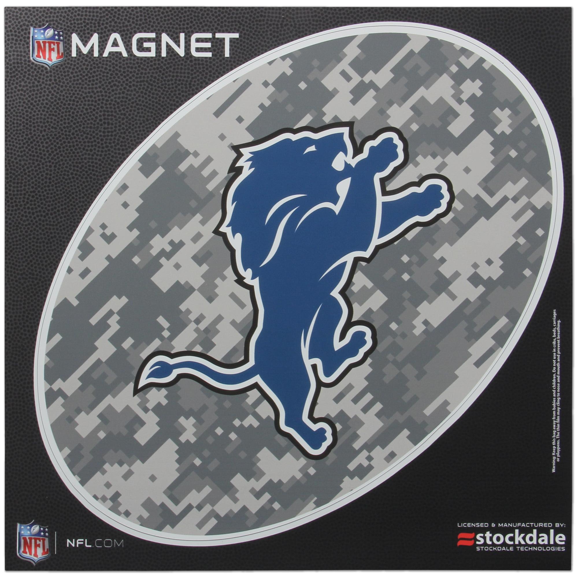 Detroit Lions 12 x 12 Digi Camo Oval Magnet - No Size