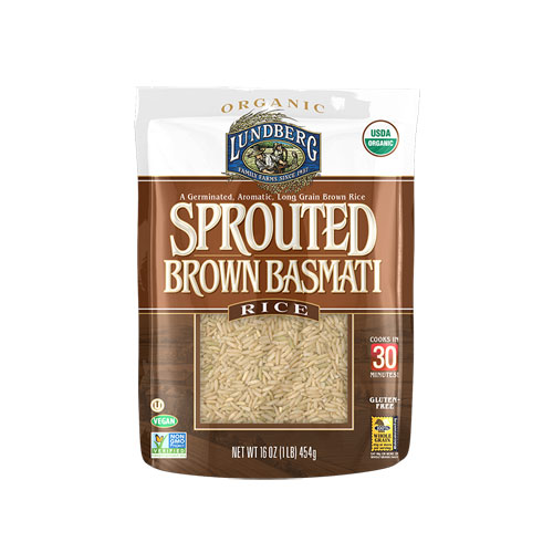 Lundberg Organic Sprouted Brown Basmati Rice -- 16 oz pac...