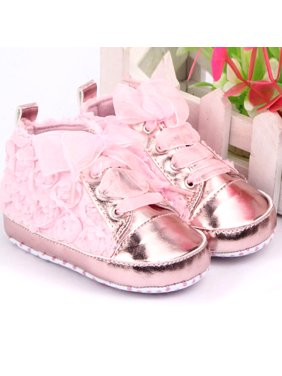 c08161afb Product Image Kacakid Spring 0-12M Baby Infant Girl Soft Sole Crib Shoes  Sneakers Lace Bow Prewalker