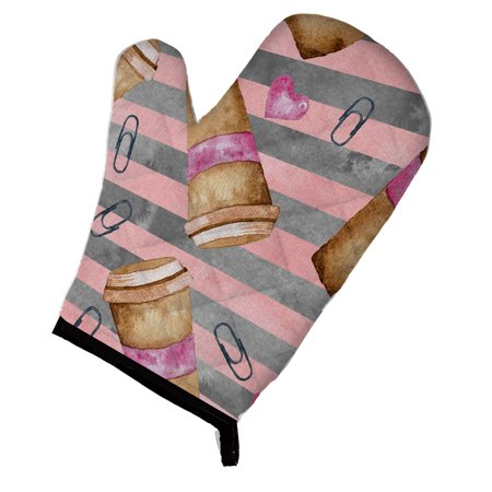 - Caroline's Treasures Watercolor Coffee and Paper Clips Oven Mitt