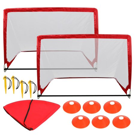 Zeny Portable 4' Pop UP Soccer Goal Durable Folding Football Post Training W/ Bag - Blow Up Football Goal