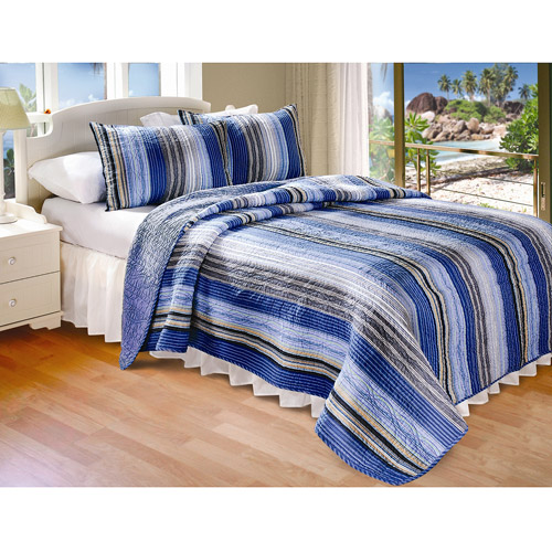 Global Trends Brisbane Stripe Quilt Set