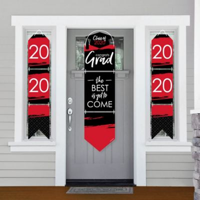 Red Grad Best Is Yet To Come Hanging Porch Front Door