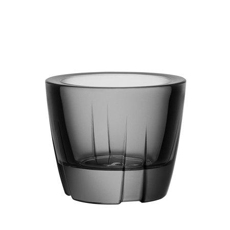 Kosta Boda Bruk Anything Bowl Votive Smoke Grey Glass