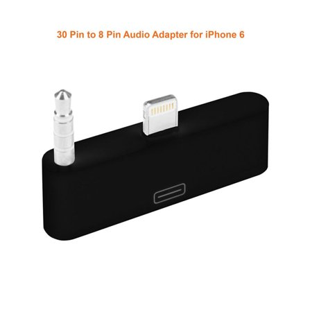 30 Pin To 8 Pin Dock Lightning Audio Adapter Connector Adapor for iPhone 6 6S -