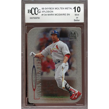 1999 Skybox Molten Metal Xplosion  134 Mark Mcgwire Sn Cardinals Bgs Bccg 10