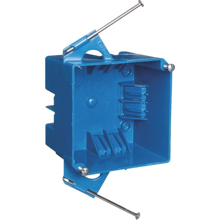 Carlon  4 in. H Square  2 Gang  Junction Box  Blue  PVC
