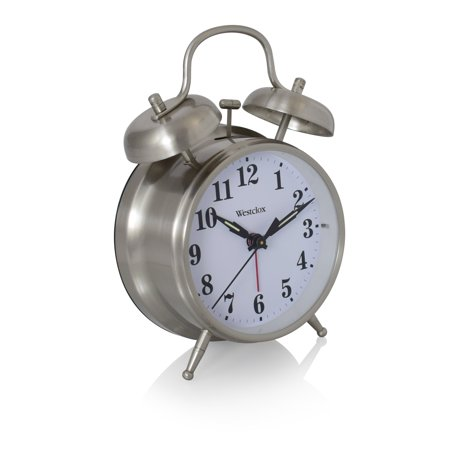 Westclox 70010 Big Ben Twin-Bell Alarm Clock Metal Alarm Clock Bells