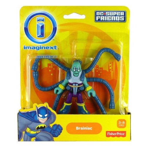 Fisher-Price Imaginext DC Superfriends Brainiac Action Figure with Backpack