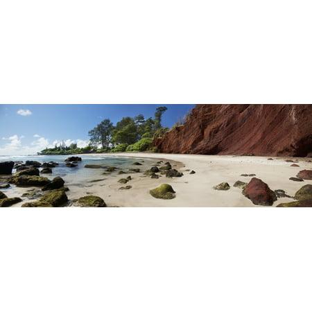 A panoramic of Koki Beach Hana Maui Hawaii United States of America Canvas Art - Jenna Szerlag  Design Pics (37 x (Koki Beach Maui)