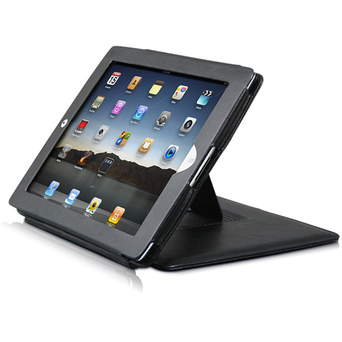 Premiertek Flip Leather Case with Stand for iPad 2
