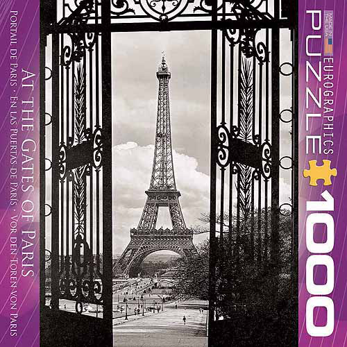 EuroGraphics At the Gates of Paris 1000-Piece Puzzle, Small Box by Generic