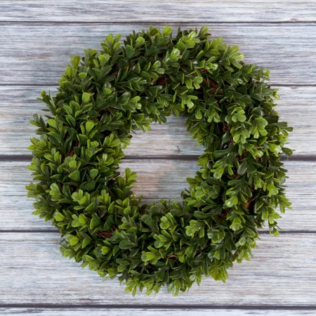 Fake Boxwood Wreath (Pure Garden 12